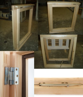 Single casement, softwood, top hung window with trickle vent 745mm x 880mm
