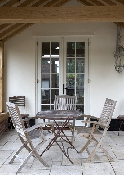 White external french doors with 10 peices of glass