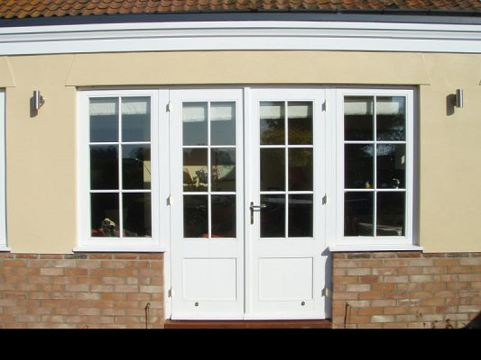 French double doors with side lights and bottom panels for French windows with side panels