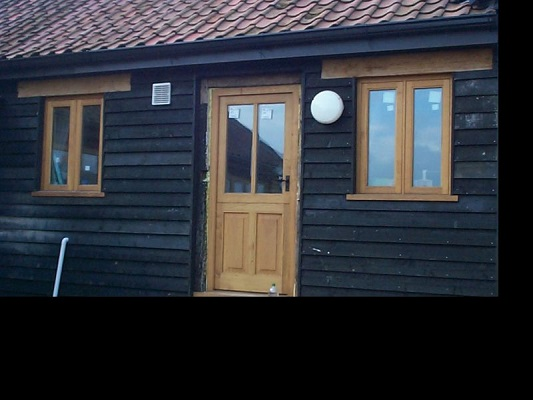 Timber door and casement windows