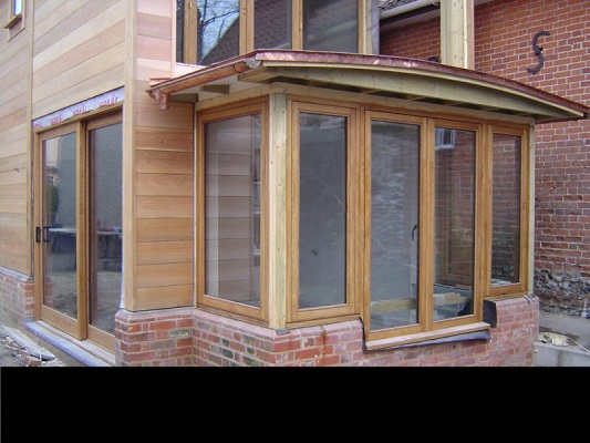 oiled oak patio doors and entrance lobby with french doors