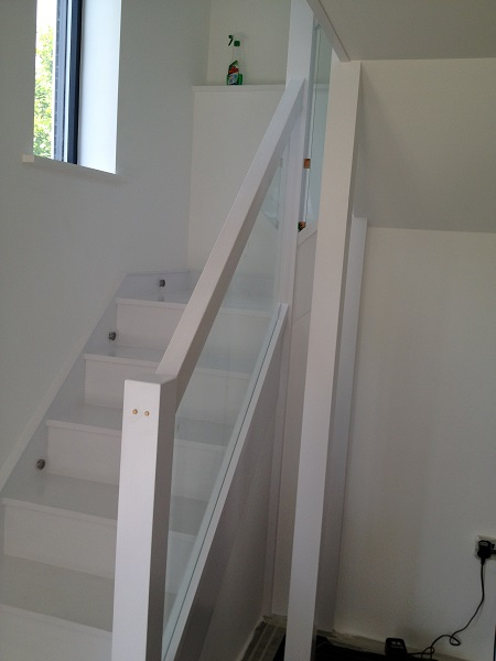 Painted timber and glass staircase 1