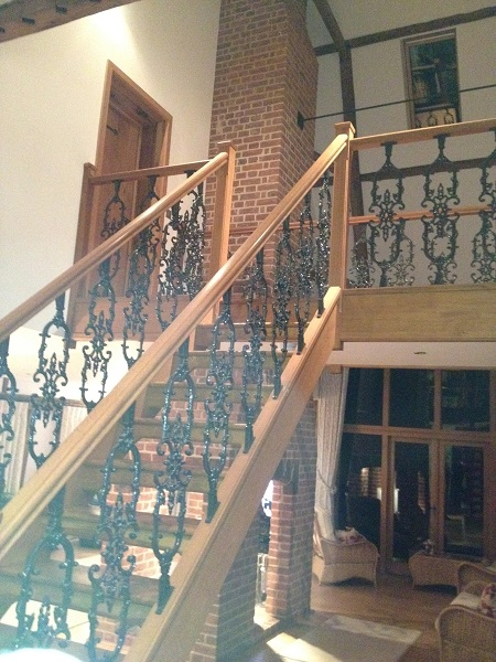 Timber and black iron staircase