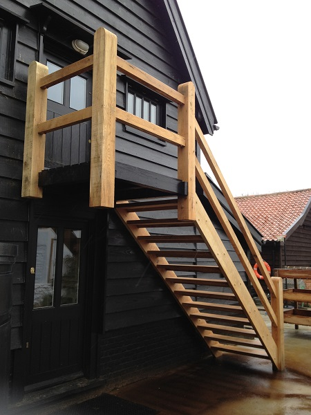 External timber staircase 1