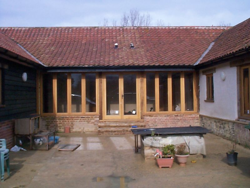 Barn conversion windows and double doors