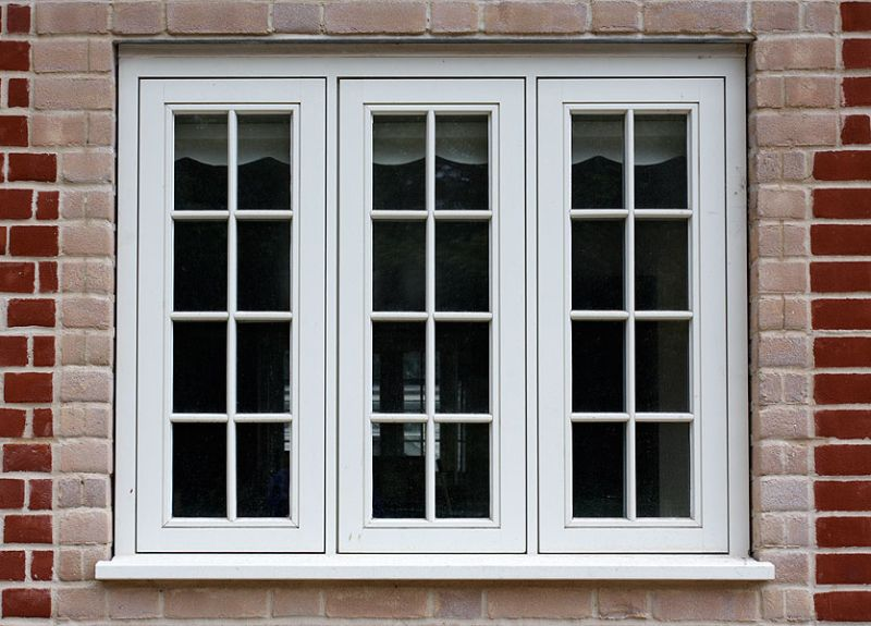 Flush casement timber white window