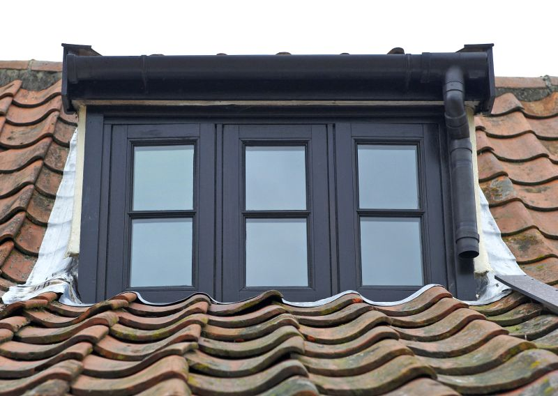 Triple casement black window