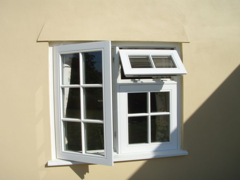 Timber white window