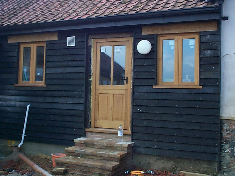 oak flush casements and stable door